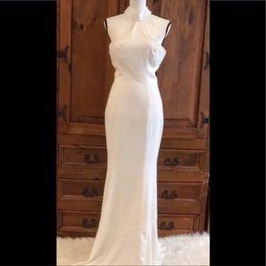 Dress the Population Dresses - Dress The Population Taylor Crepe Halter Gown